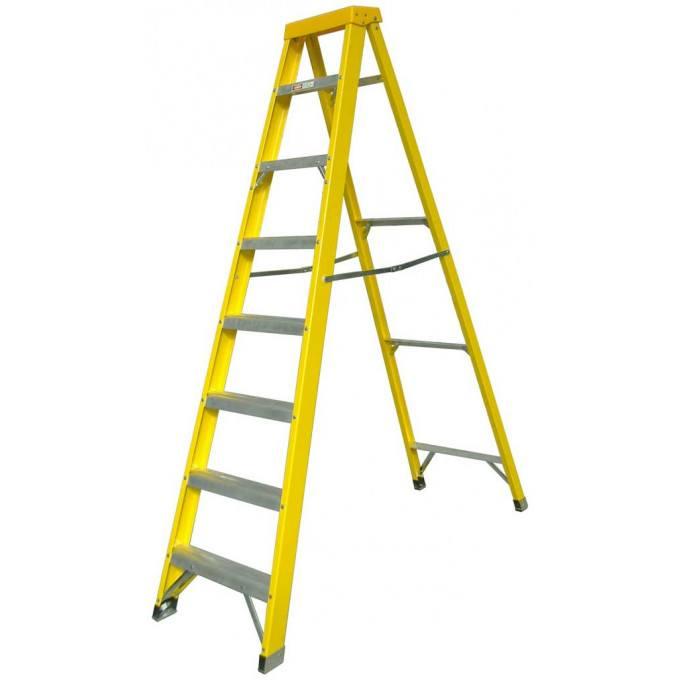 Zarges EN131 Professional GRP Swingback Step Ladders - 8 Tread