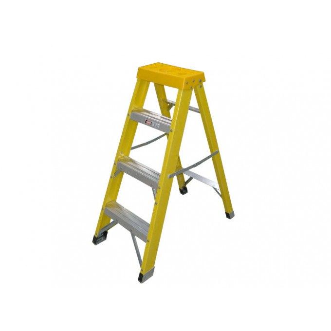Zarges EN131 Professional GRP Swingback Step Ladders - 4 Tread
