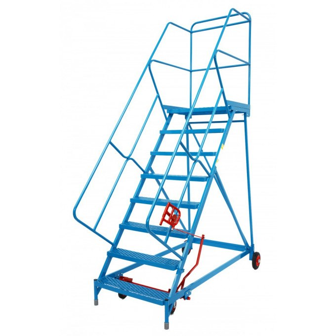 Wide Tread Trojan Mobile Warehouse Steps