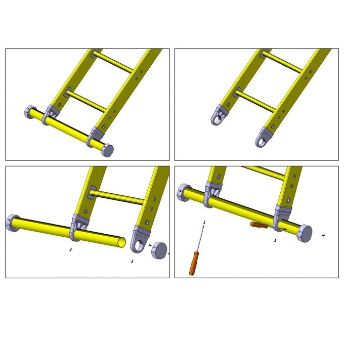 Fibreglass GRP Single Section Pole Ladder Stabiliser Bar Instructions