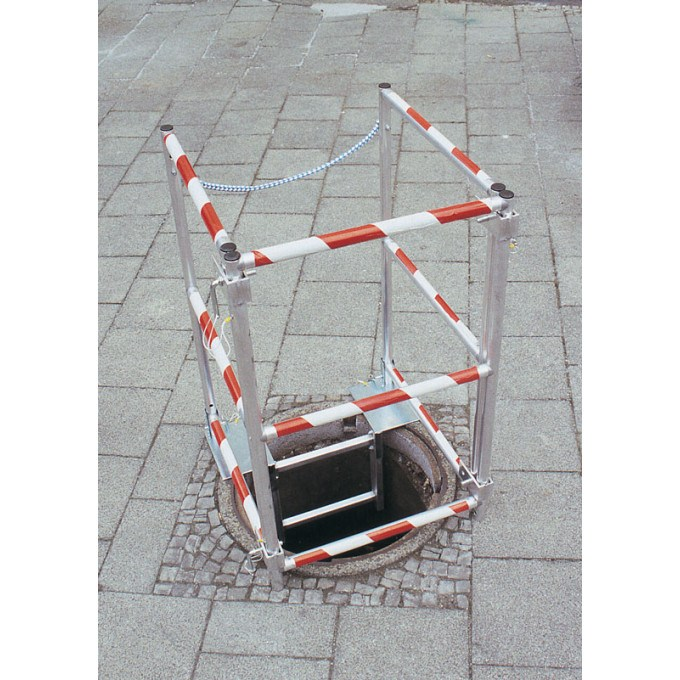 Zarges Glassfibre Reinforced Plastic Shaft Ladder In Use