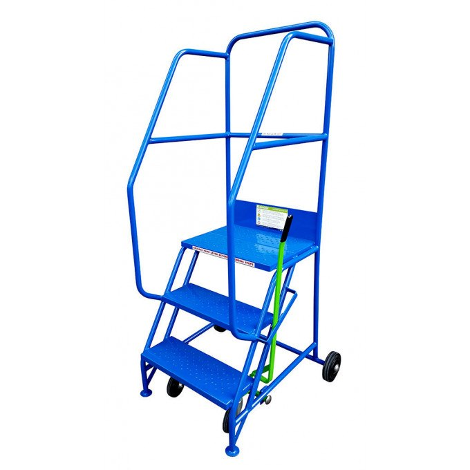 Klime-ezee Industrial Mobile Warehouse Steps - 3 Tread