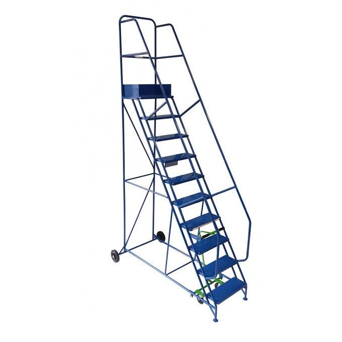 Klime-ezee Industrial Mobile Warehouse Steps - 10 Tread