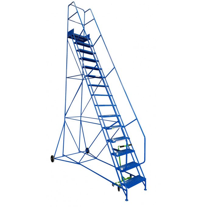Klime-ezee Industrial Mobile Warehouse Steps - 15 Tread