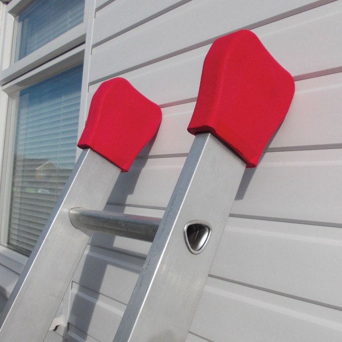 Ladder Pads Work Surface Protectors for Extension Ladders against cladding