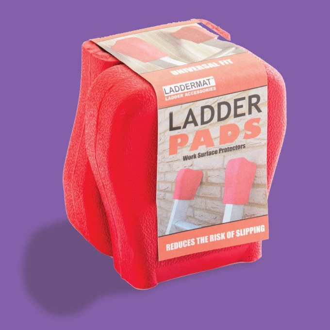 Ladder Pads Work Surface Protectors for Extension Ladders packaging