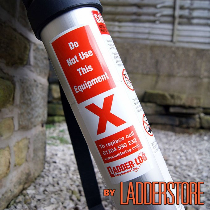 Ladderstore Ladder Log Safety Inspection Sticker - Red Do Not Use (single)