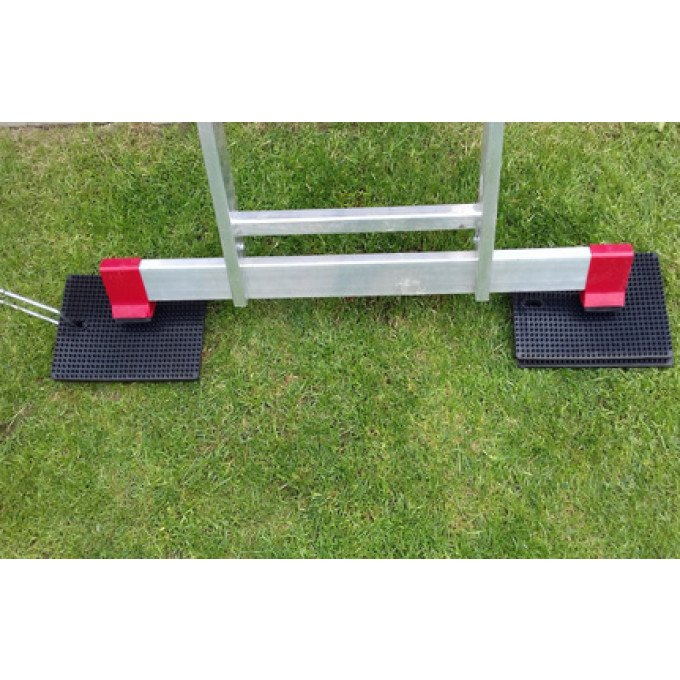 Laddermat In Use With Stabiliser Bar - Two Mats