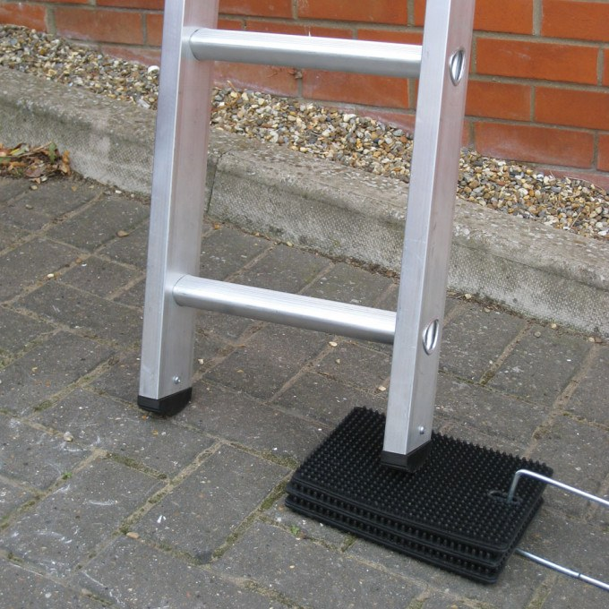 Laddermat Anti-Slip Ladder Leveller on stone