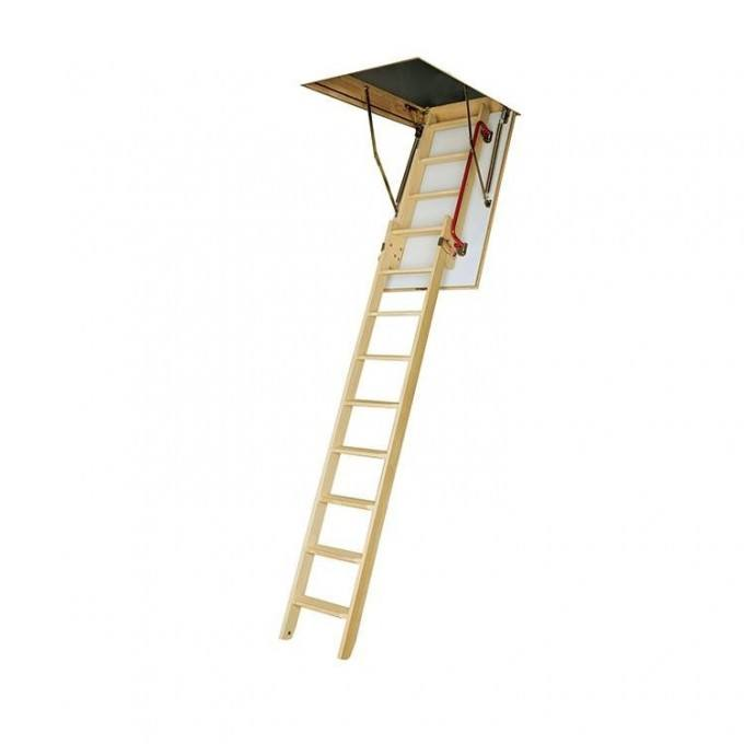 Fakro 280 LDK Sliding Wooden Loft Ladder With Hatch