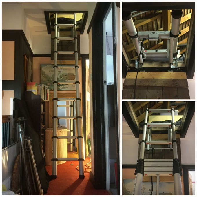 Lloyd's recent installation of the Youngman Telescopic Loft Ladder