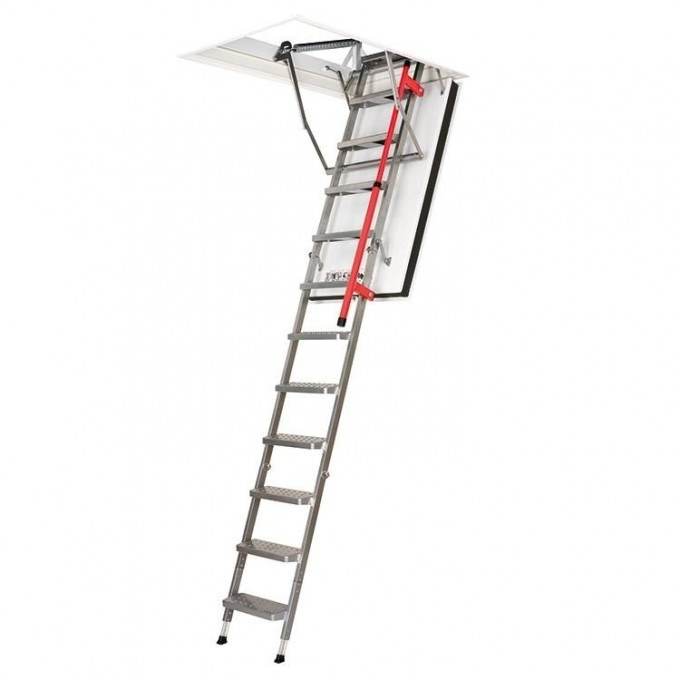 Fakro 280 LMF Fire Resistant Metal Loft Ladder With Hatch