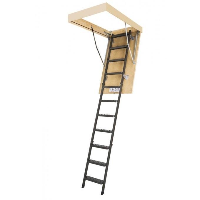 Fakro 280 LMS Powder Coated Metal Loft Ladder With Hatch