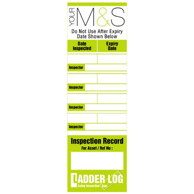 Personalised Ladder Log Tag for Marks & Spencer
