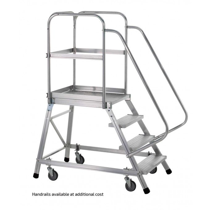 Warehouse Step With Handrails
