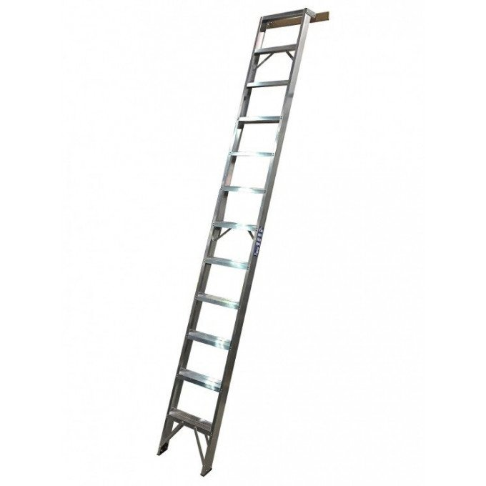 Aluminium Shelf Ladders With Spreader Bar - 9 Tread
