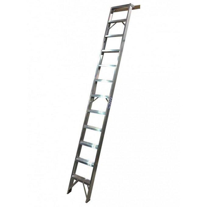 Aluminium Shelf Ladders With Spreader Bar - 12 Tread