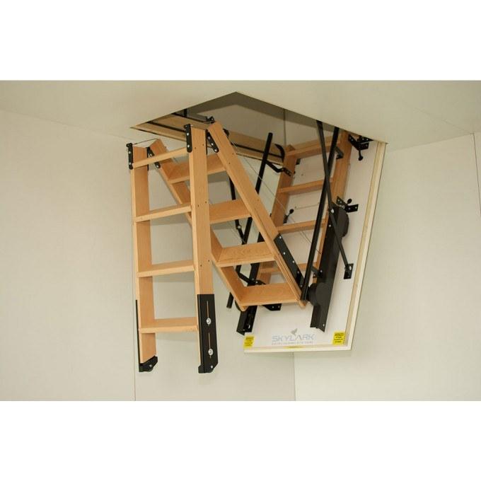 Skylark Electric Foldaway Loft Ladders unfolding