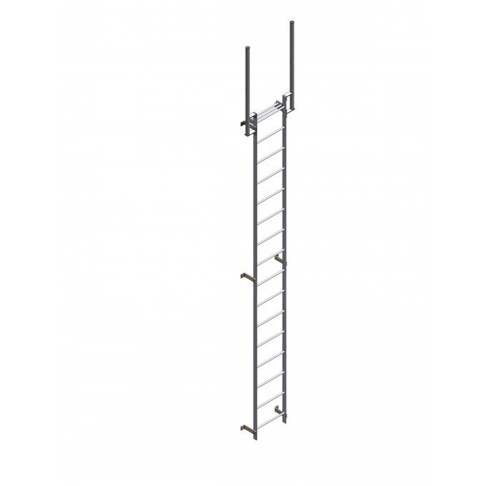 Steel Fixed Vertical Acesss Ladder With Walkthrough