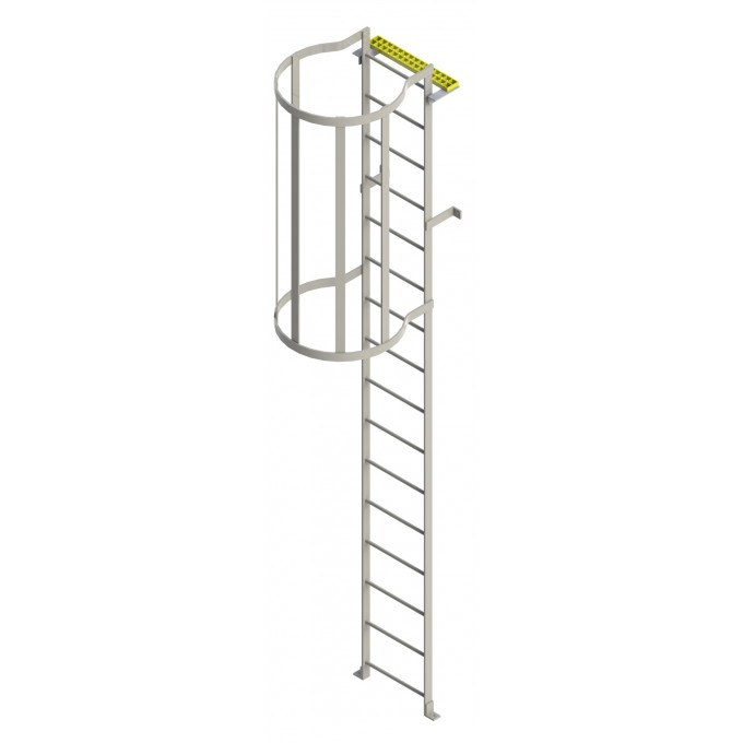 Steel Roof Hatch Access Ladder With Hoops