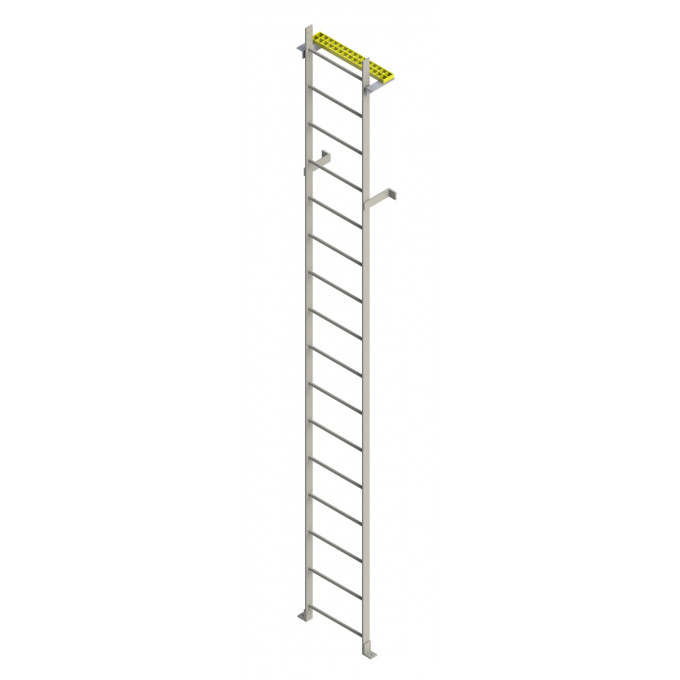 Steel Access Ladder With Fall Arrest