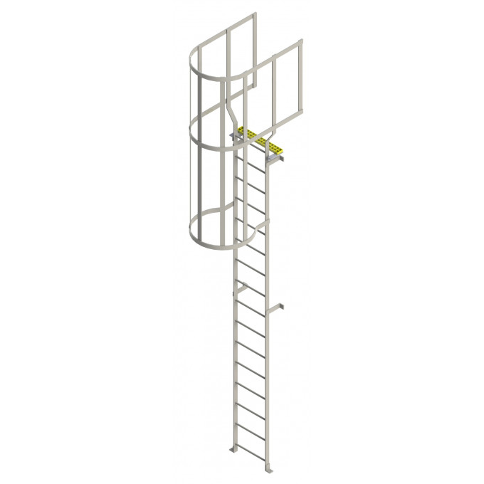 Steel Roof Access Ladder With Hoops