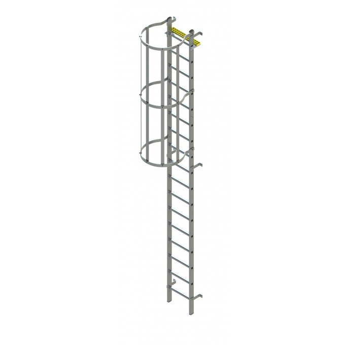 Fixed Vertical Ladder with Safety Cage
