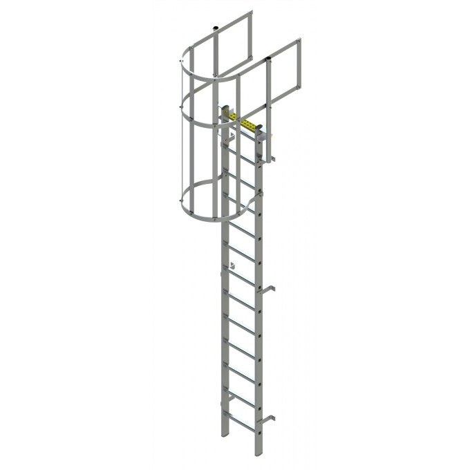 Fixed Vertical Ladder with Safety Cage & Walkthrough
