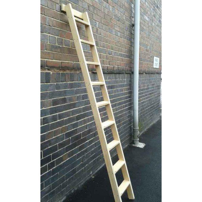 timber shelf ladder