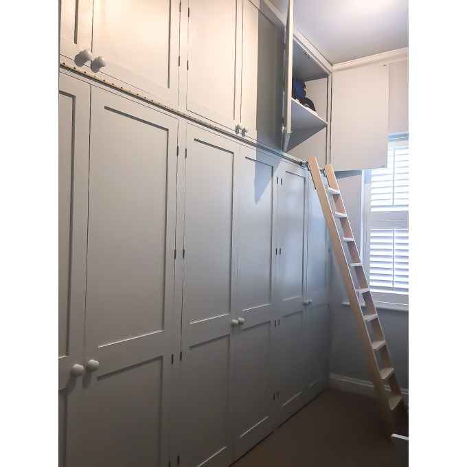 Rolling Ladder - In spare bedroom