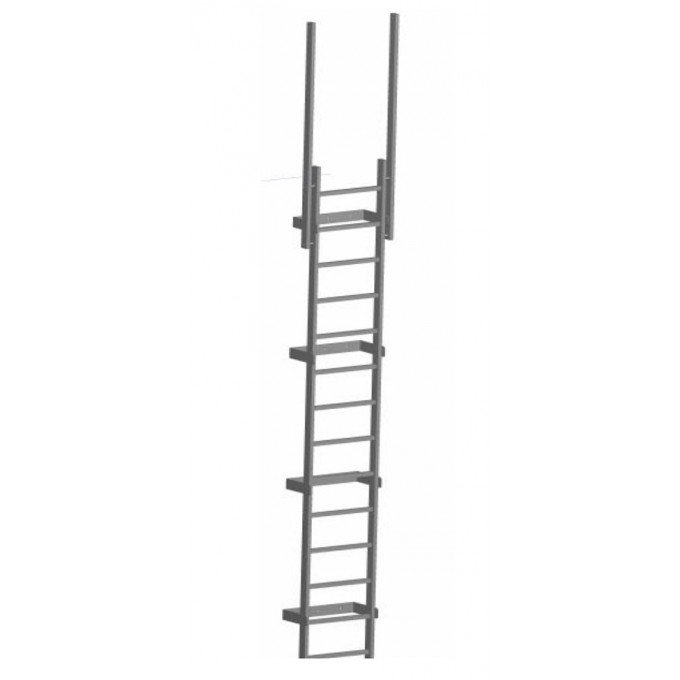 Zarges Fixed Access Ladder With Walkthrough