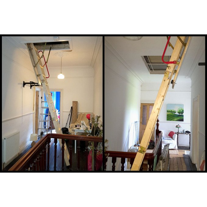 Mick's Youngman Eco S Line Extra Tall Timber Loft Ladder