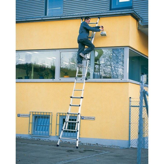 Zarges Z600 4 Part Telescopic Ladder - 4 x 5 Rungs