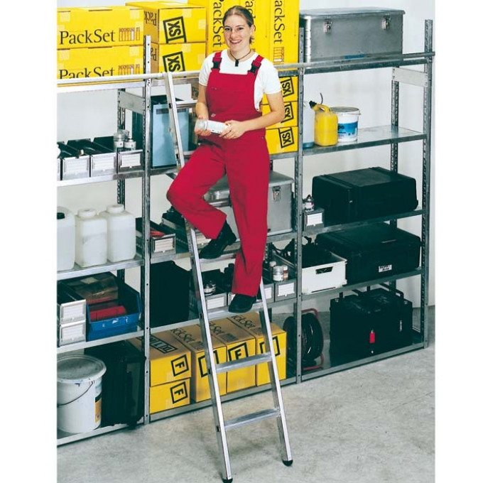 Zarges-Shelf-Ladder-In-Use