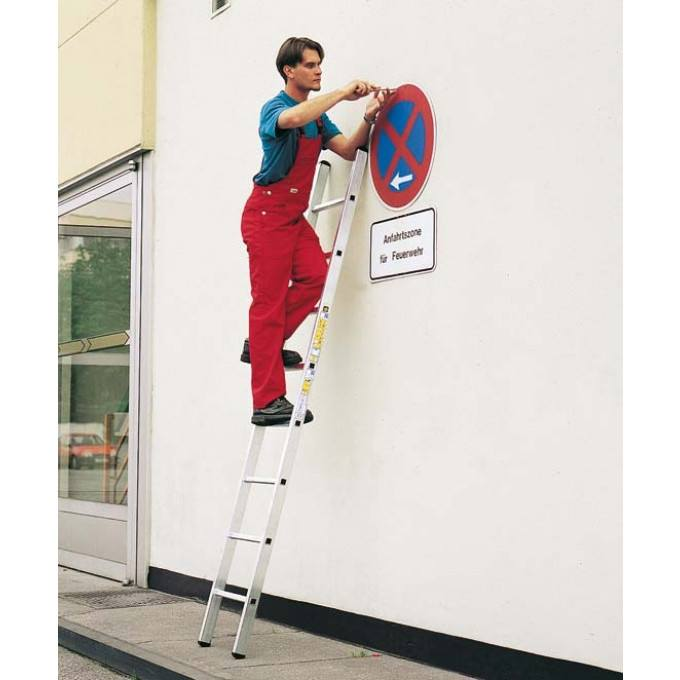 Zarges-Single-Section-Ladder-In-Use