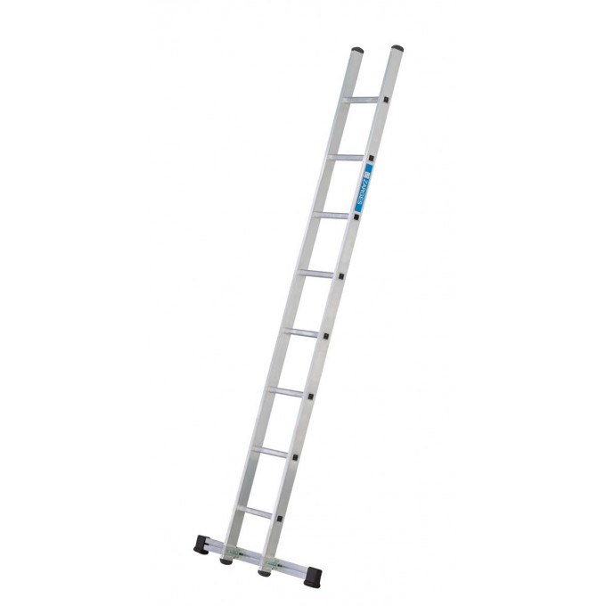 Zarges-Single-Section-Ladder-With-Stabiliser-Bar
