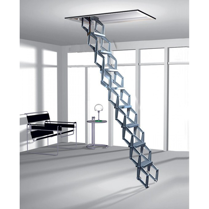 Zig Zag Heavy Duty Concertina Ladder - 2.79 to 3.0 m