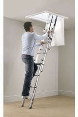 Werner Blue Seal Spring Assisted Loft Ladder with Handrail