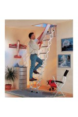 Alu Fix Concertina Loft Ladder - 3.00m