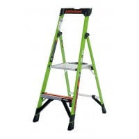Little Giant Mighty Lite Fibreglass Platform Stepladder 2 Tread