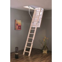 Eurofold 3 Section Wooden Loft Ladder