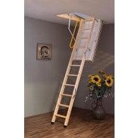 Luxfold 3 Section Wooden Loft Ladder