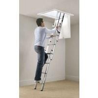 Werner Blue Seal Spring Assisted Loft Ladder with Handrail