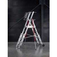 Rolguard Safety Ladder With Enclosed Platform