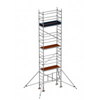 Zarges Reachmaster 3T Mobile Scaffold Tower with Stabilisers - Platform Height 5.8 m