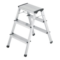 Hailo Stepke Aluminium Folding Steps - 2 x 3 Step
