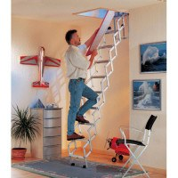 Alu Fix Concertina Loft Ladder - 2.73m