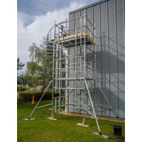 Boss Evolution Ladderspan AGR Double Width Camlock Tower - 10.7 m Platform Height