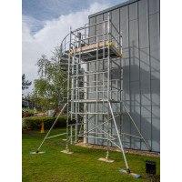 Boss Evolution Ladderspan AGR Double Width Camlock Tower - 12.2 m Platform Height