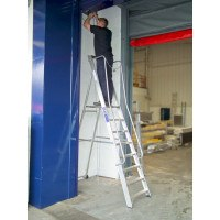 Lyte EN131 Professional Wide Platform Stepladders with Handrails